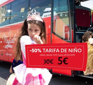 -50% tarifa infantil